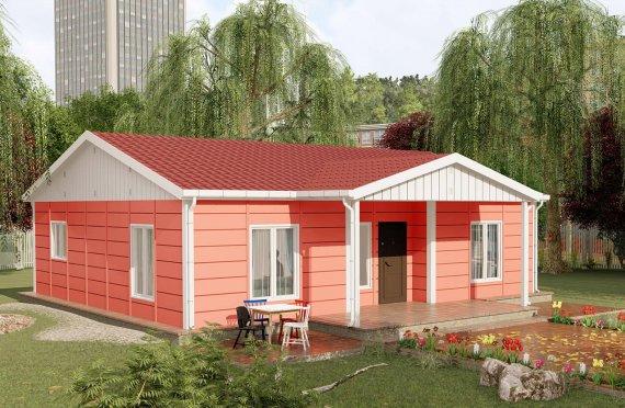 100 m2 Single Story Modular Home