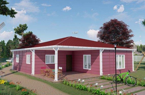 123 m2 Single Story Modular Home