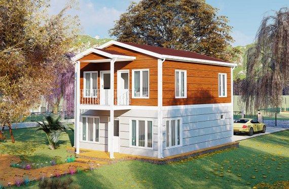 126 m2 Prefabric Villa