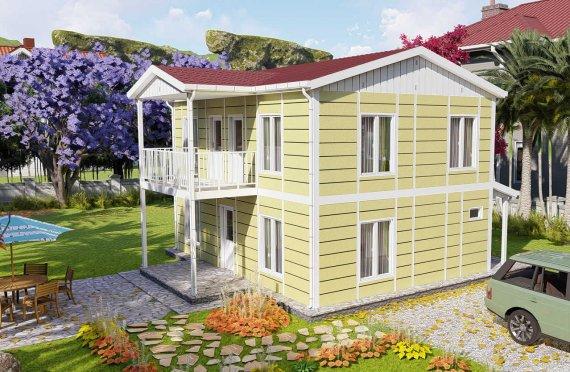 128 m2 Prefabric Villa