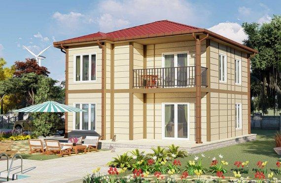 138 m2 Prefabric Villa