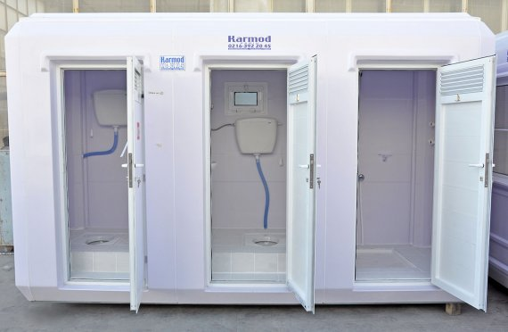 150x390 Portable Toilet & Shower Cabin