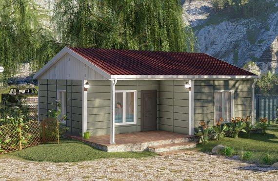 64 m2 Single Story Modular Home