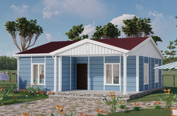 82 m2 Single Story Modular Home