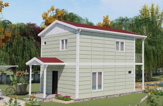 91 m2 Prefabric Villa