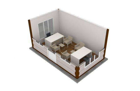 Modern Prefab Cabin 300x500