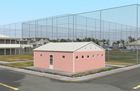 Prefabricated Toilet & Shower Building 70 m²