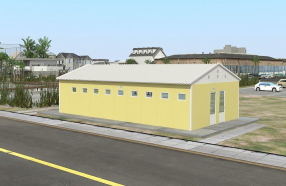 Prefabricated Toilet & Shower Building 82 m²