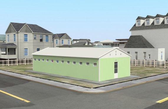 Prefabricated Toilet & Shower Building 97 m²