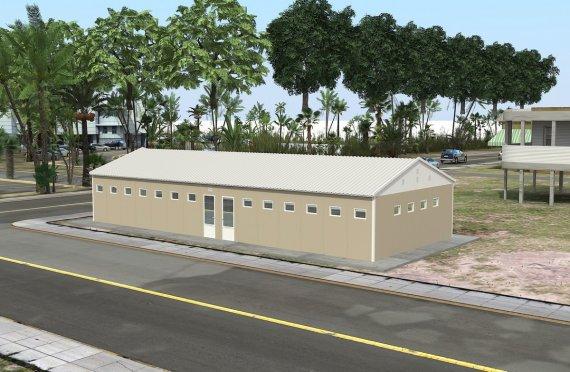Prefabricated Toilet & Shower Building 145 m²